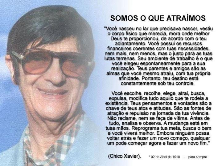 Mensagens De Chico Xavier Para Facebook: 2 De Abril: Aniversário De Nascimento De Chico Xavier